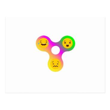 de_look Fidget Spinner Emoji s Funny Gift Postcard