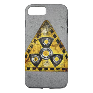 Fidget Spinner Nuclear Radiation Warning Triangle iPhone 7 Plus Case