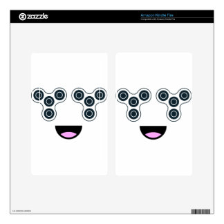 Fidget Spinner Smile Decal For Kindle Fire