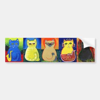 Fido Cats Bumper Sticker Car Bumper Sticker