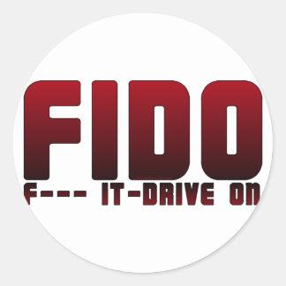 FIDO CLASSIC ROUND STICKER