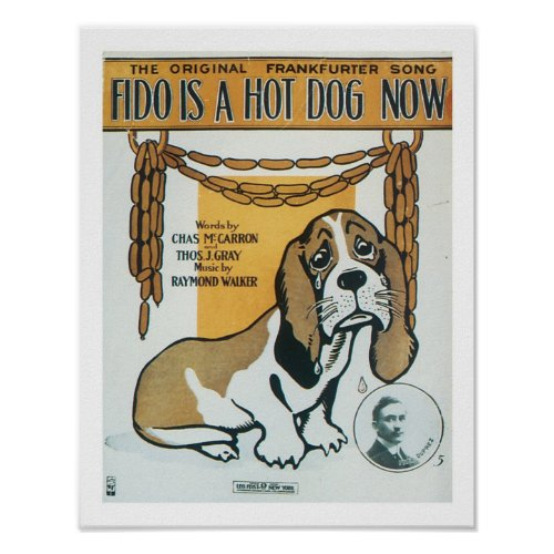 Fido is a Hotdog now Music Cover Art Poster