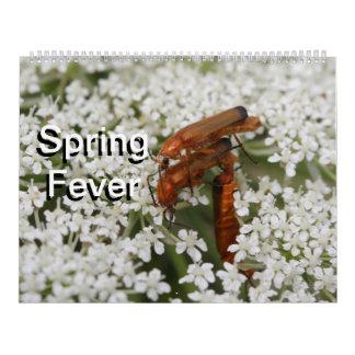 Fiebre 2016 de la primavera calendarios