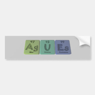 Fiebre-AG-U-Es-plata-uranio-Einsteinio Pegatina Para Auto