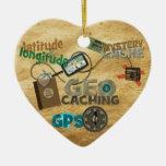 Fiebre de Geocache - personalizar Ornamentos De Navidad