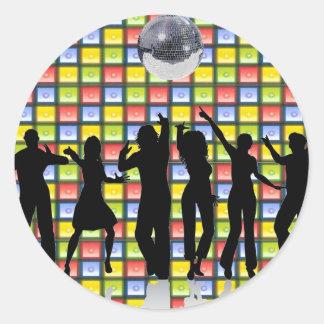Fiebre de la danza pegatina redonda