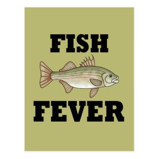Fiebre de los pescados tarjeta postal