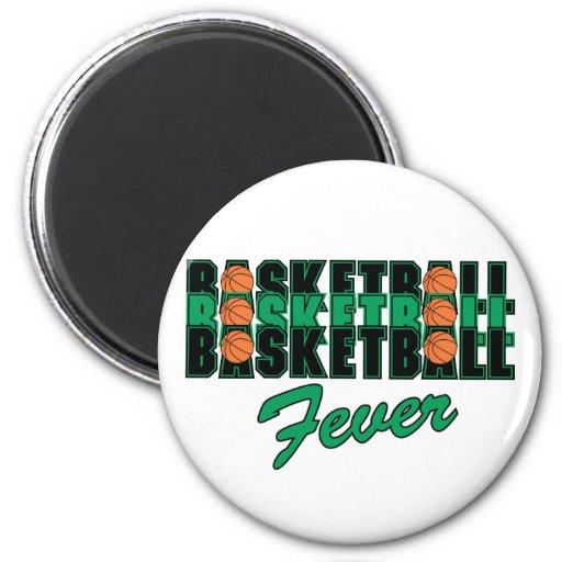 Fiebre del baloncesto imanes para frigoríficos