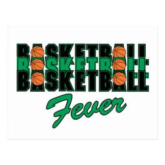 Fiebre del baloncesto tarjeta postal
