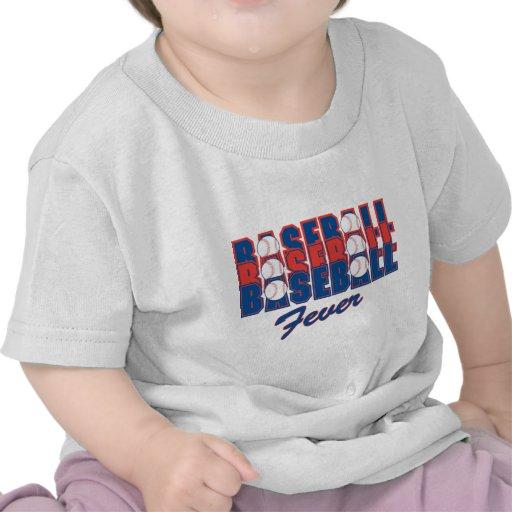 Fiebre del béisbol camisetas
