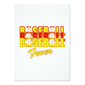 """Fiebre del béisbol invitación 5"""" x 7"""""""