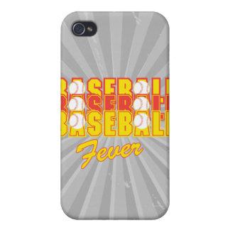 fiebre del béisbol roja y amarilla iPhone 4/4S funda