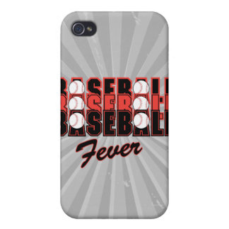 fiebre del béisbol roja y negra iPhone 4/4S funda