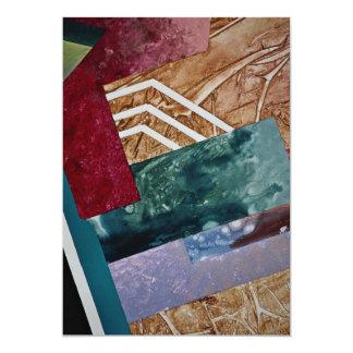 """Fiebre del color, arte abstracto invitación 5"""" x 7"""""""