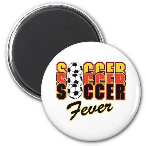 Fiebre del fútbol imán redondo 5 cm