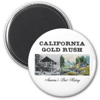 Fiebre del oro de ABH California Imán De Frigorífico