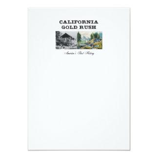 """Fiebre del oro de ABH California Invitación 5"""" X 7"""""""
