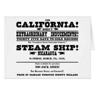 Fiebre del oro de California Tarjeta De Felicitación
