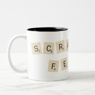 Fiebre del Scrabble Taza De Dos Tonos