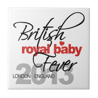 Fiebre real británica del bebé - príncipe George Teja Ceramica