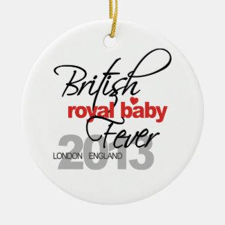 Fiebre real británica del bebé - príncipe George Ornaments Para Arbol De Navidad