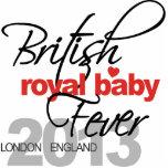 Fiebre real británica del bebé - príncipe George Escultura Fotografica