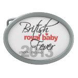 Fiebre real británica del bebé - príncipe George Hebillas De Cinturon Ovales