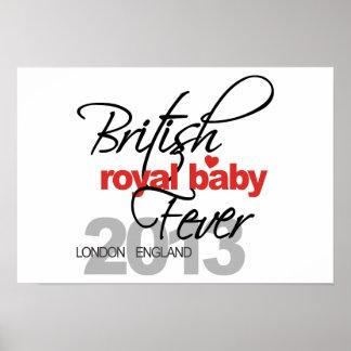 Fiebre real británica del bebé - príncipe George Posters