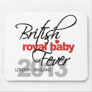 Fiebre real británica del bebé - príncipe George Tapetes De Ratones