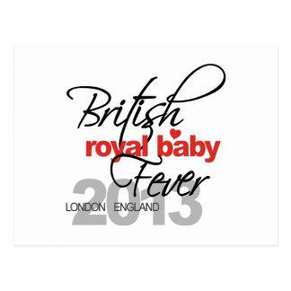 Fiebre real británica del bebé - príncipe George Postal