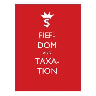 Fiefdom and Taxation Postcard