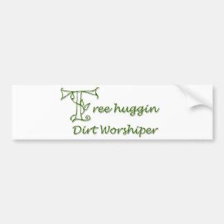 Fiel de la suciedad de Huggin del árbol Etiqueta De Parachoque
