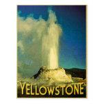 Fiel viejo de Yellowstone Tarjetas Postales