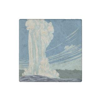 Fiel viejo del parque nacional de Yellowstone Imán De Piedra