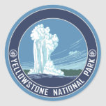 Fiel viejo - parque nacional de Yellowstone Etiqueta