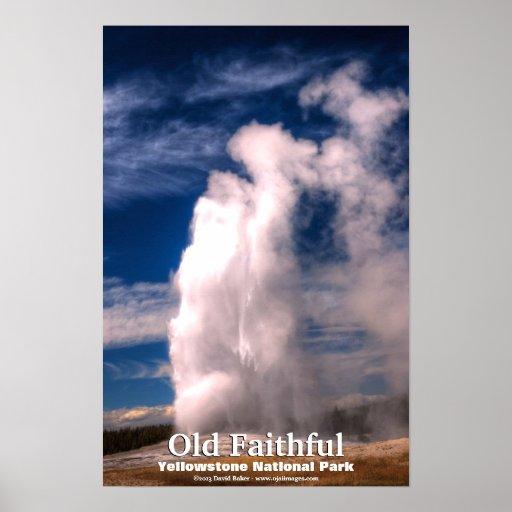 Fiel viejo - parque nacional de Yellowstone Póster