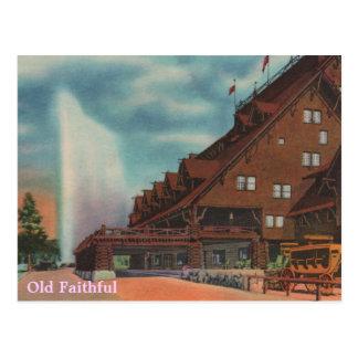 Fiel viejo tarjeta postal