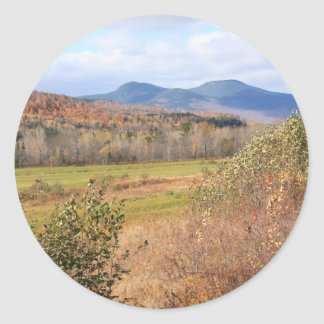 Field and Moutain Classic Round Sticker