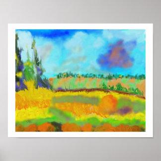 Field Art, After Pissarro Poster