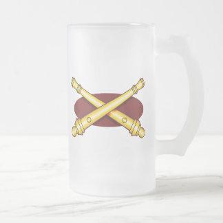 Field Artillery Frosted Glass Beer Mug