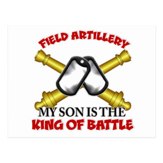 Field Artillery Son Postcard