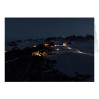 Field Camp at Night Juneau Icefield (Blank Inside) Card