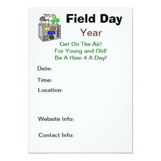 Field Day Ham Radio Invitations - Customize It!