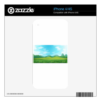 Field Decal For iPhone 4