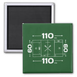 Field Dimensions 2 Inch Square Magnet