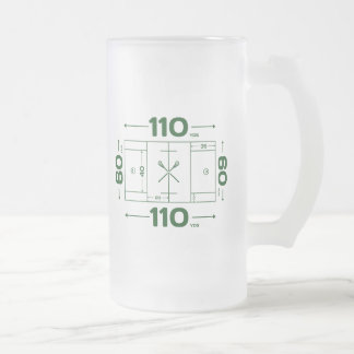 Field Dimensions Frosted Glass Beer Mug