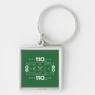 Field Dimensions Keychain