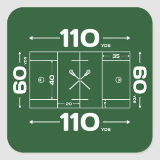 Field Dimensions Square Sticker