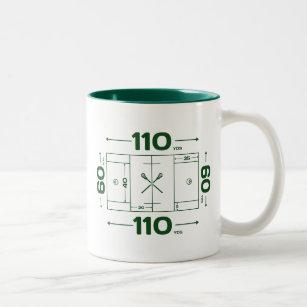 Field Dimensions Two Tone Coffee Mug