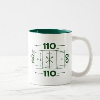 Field Dimensions Two-Tone Coffee Mug